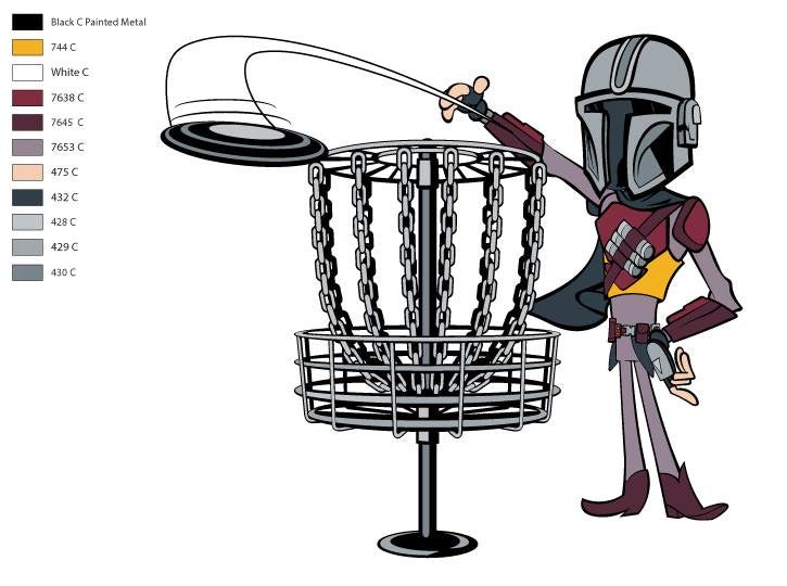 Mandalorian Disc Golf pin