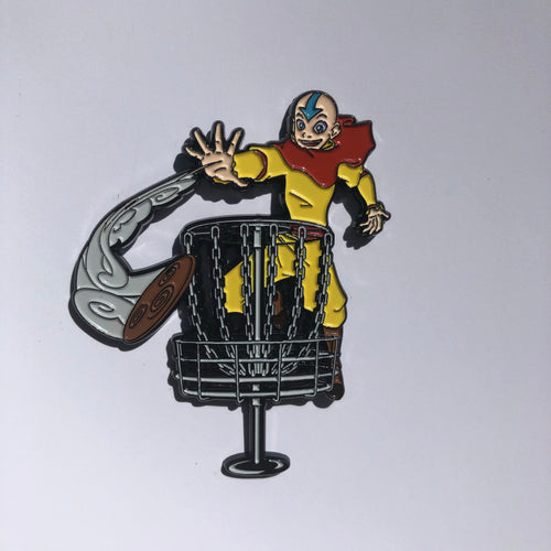 Aang Avatar Disc Golf pin
