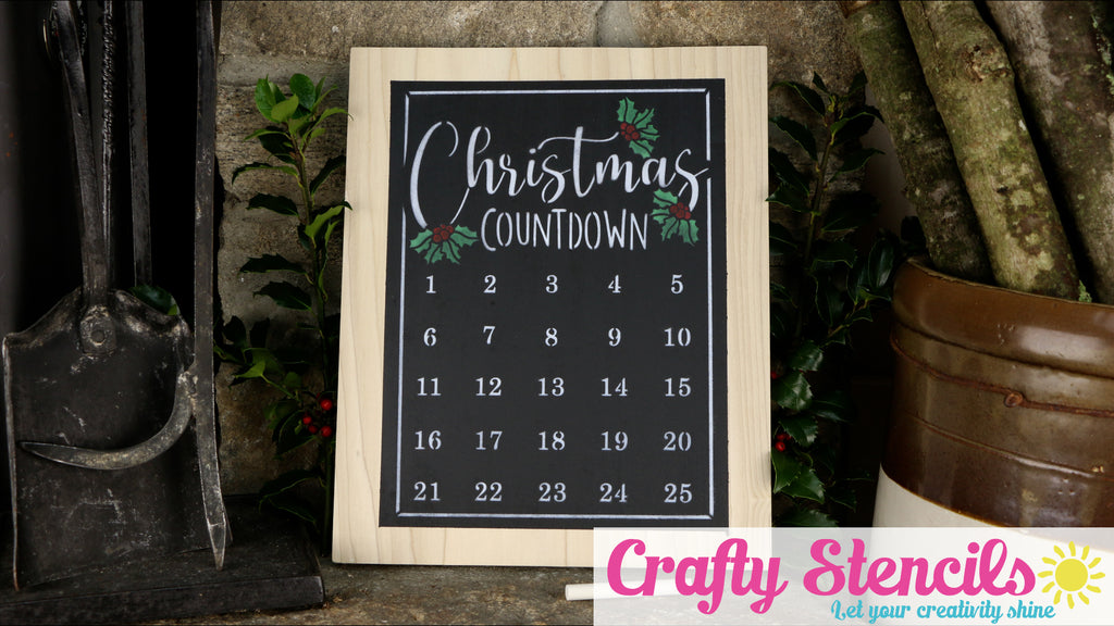 Countdown Until Christmas with a DIY Christmas Countdown Chalkboard