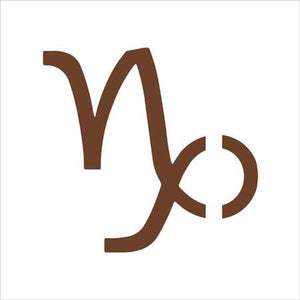 Capricorn Zodiac Sign Shape Stencil