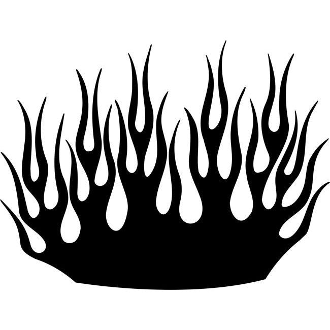 Sea of Flames Stencil - BASIC Stencils Collection:
