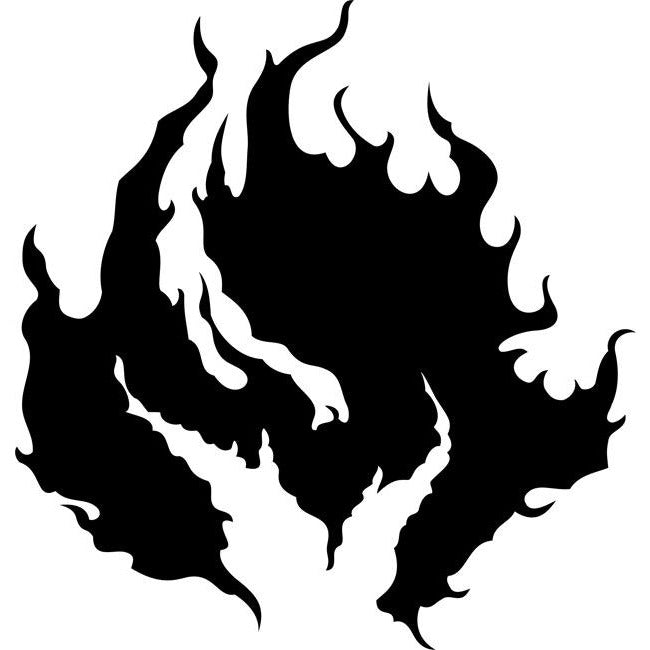 Hearth Flame Stencil