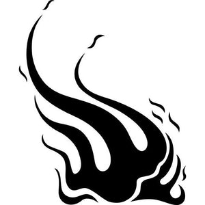Windswept Flame Stencil