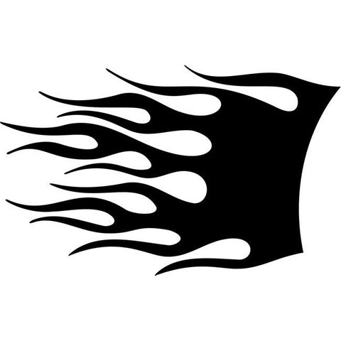 Combustion Flame Stencil