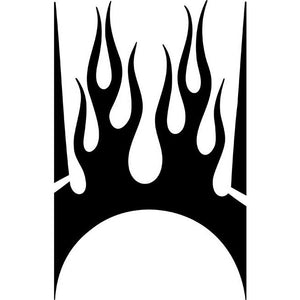 Fireplace Flame Stencil