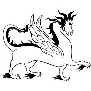 Winged Dragon Stencil