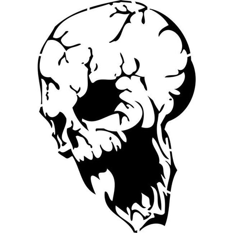 Demonic Skull Stencil by Crafty Stencils