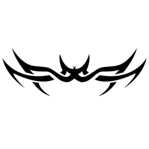 Spiked Tribal Tattoo Stencil