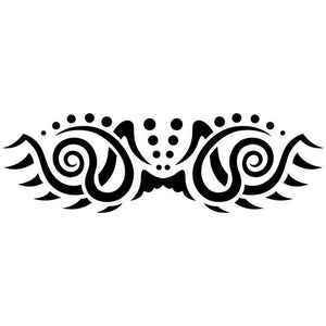Swirl Tribal Tattoo Stencil