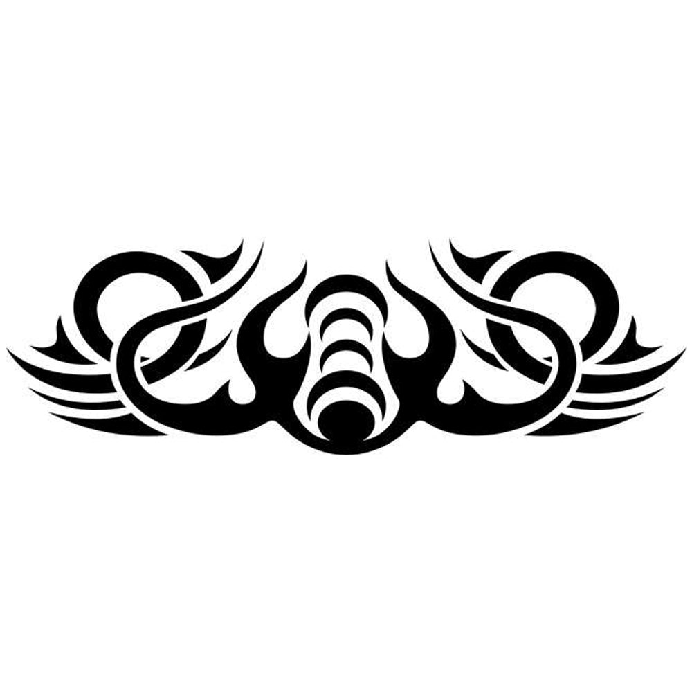 Wave Tribal Tattoo Stencil