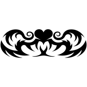 Hearts Tribal Tattoo Stencil