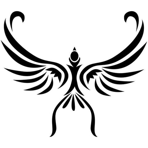 Soaring Bird Tribal Tattoo Stencil