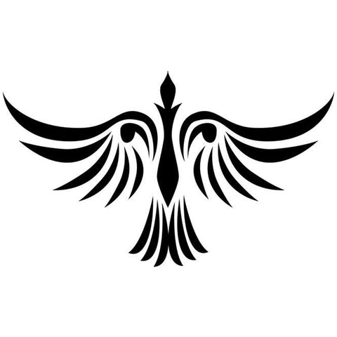 Firebird Tribal Tattoo Stencil