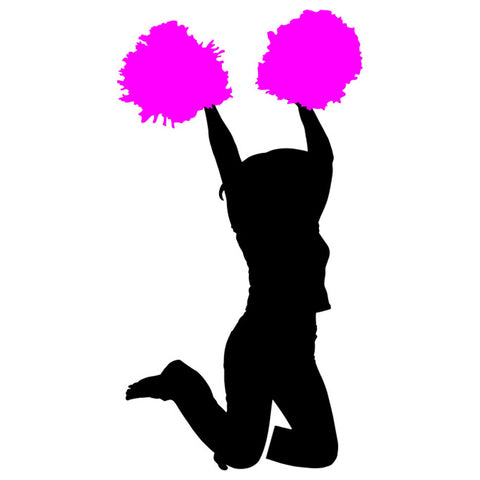 Cheerleader Silhouette 03 Stencil by Crafty Stencil