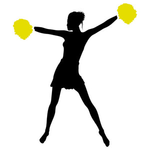 Cheerleader Silhouette 06 Stencil by Crafty Stencil