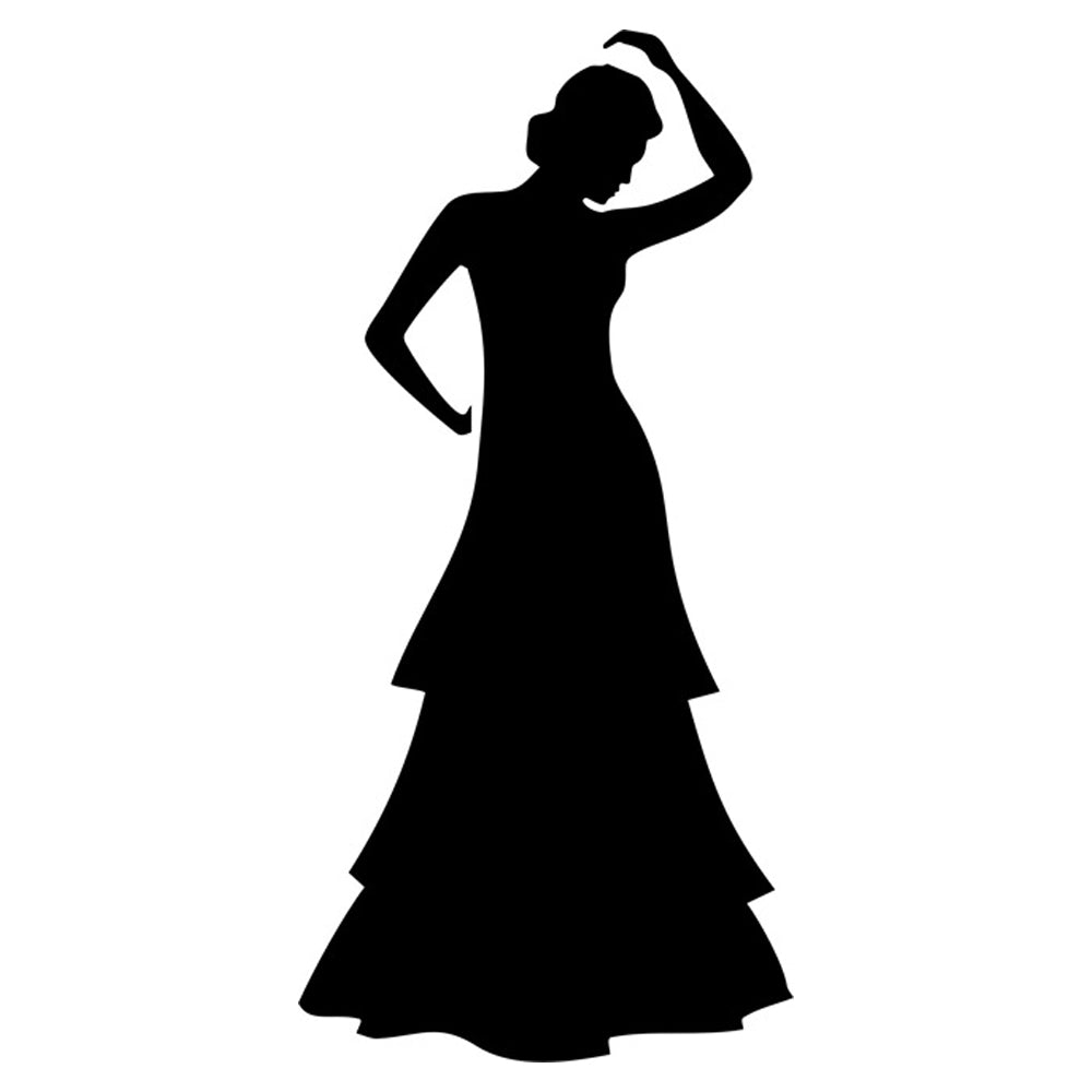 Spanish Dancer Silhouette Stencil by Crafty Stencil