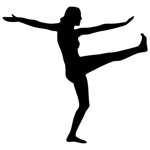 Yoga Silhouette Stencil by Crafty Stencil