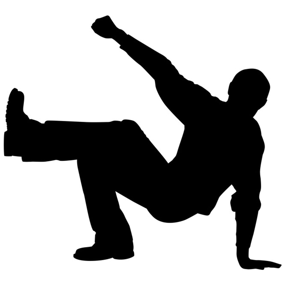 Break Dancer Silhouette Stencil by Crafty Stencil