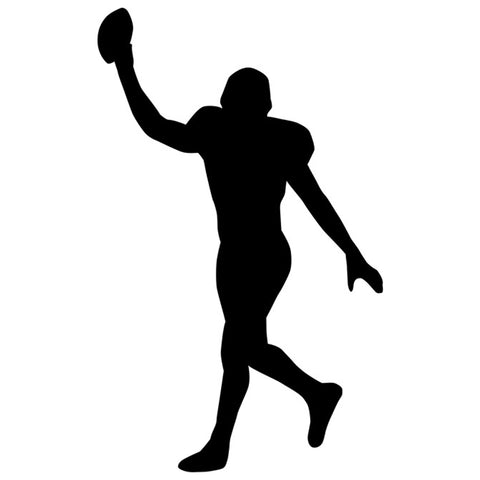 Football Player Silhouette Stencil