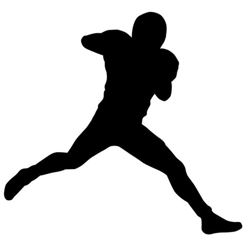 Football Player Silhouette 02 Stencil