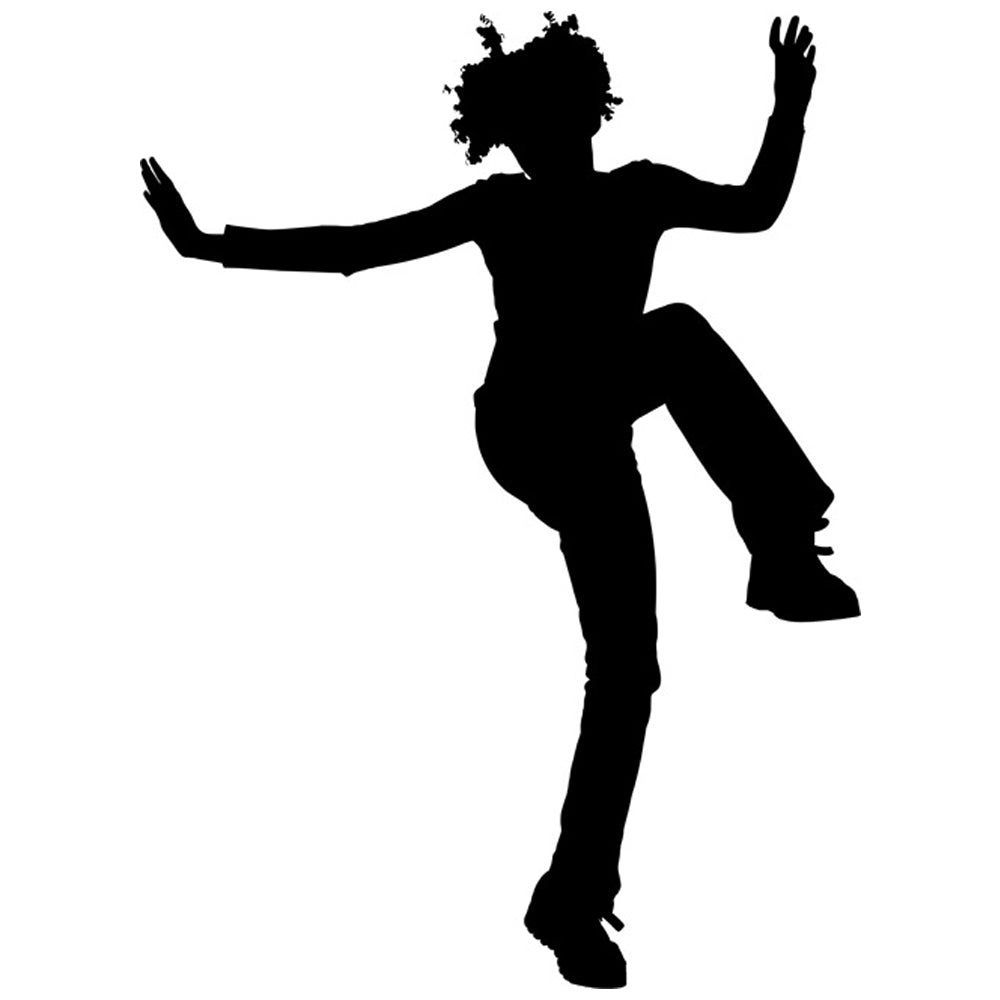Dancing Silhouette 03 Stencil by Crafty Stencil