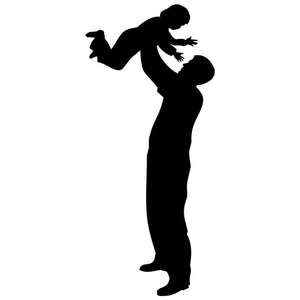 Father and Child Silhouette Stencil by Crafty Stencil