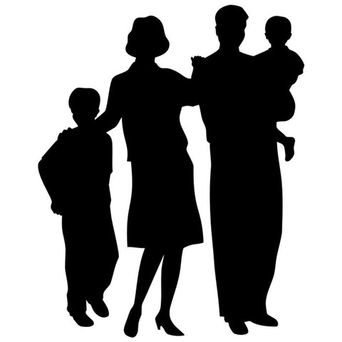 Family Silhouette Stencil by Crafty Stencil