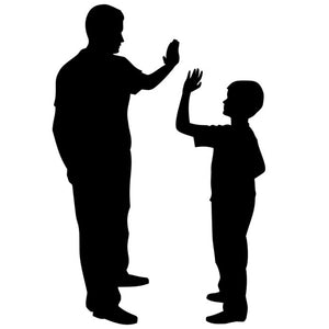 Father and Son Silhouette Stencil by Crafty Stencil
