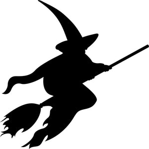 Witch Pumpkin Carving Stencil