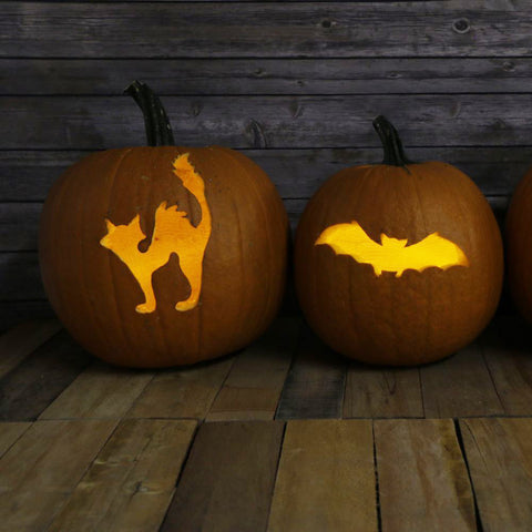 Halloween Pumpkin Carving 3 Piece Craft Stencil Set