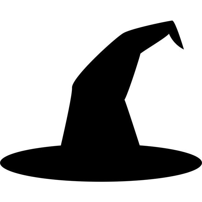 Witch Hat Stencil