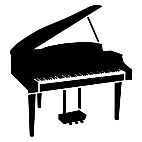 Grand Piano Stencil by Crafty Stencils