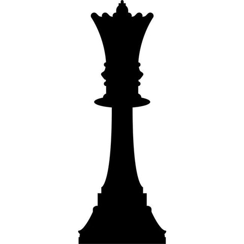 Queen Chess Stencil