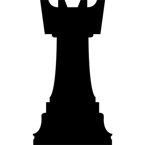 Rook Chess Stencil by Crafty Stencils