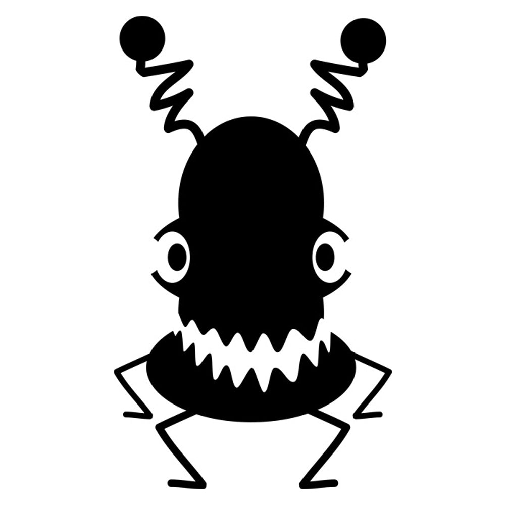 Crazy Antenna Monster Stencil
