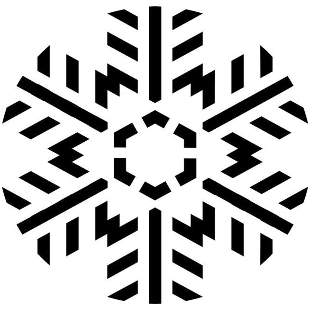 Feathered Snowflake Stencil