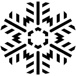 Triangular Snowflake Craft Stencil