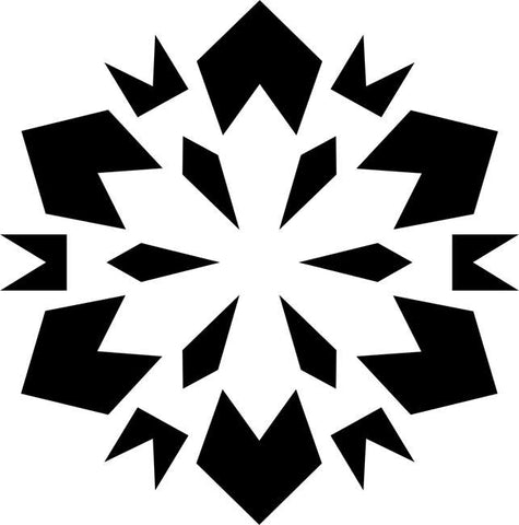 Geometric Snowflake Craft Stencil