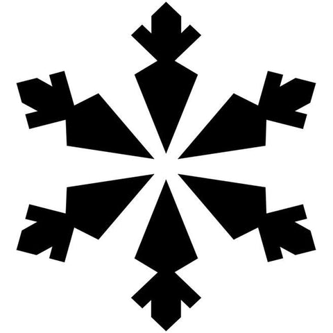 Carrot Snowflake Craft Stencil