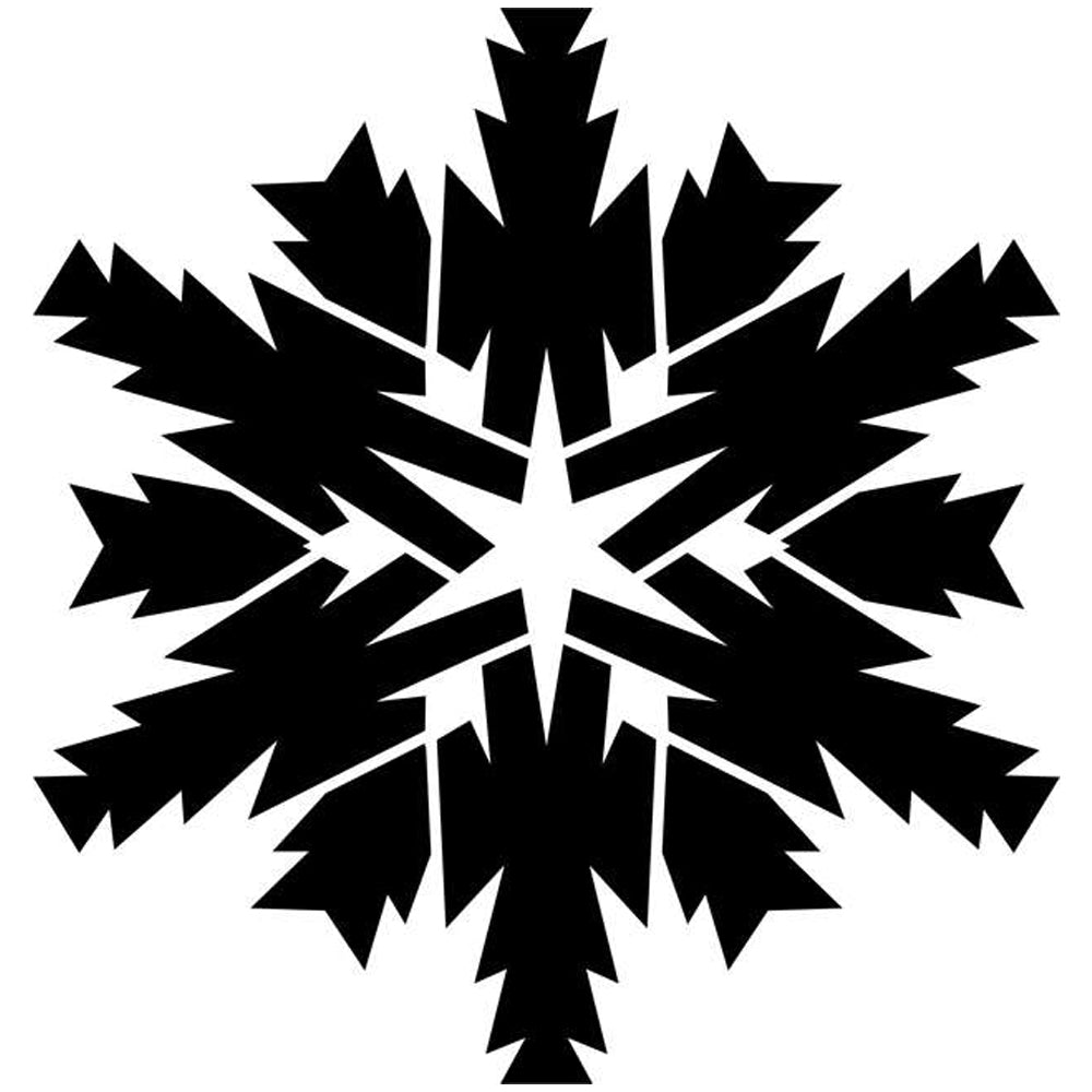 Twelve Sided Star Snowflake Craft Stencil