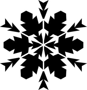 Twelve Point Snowflake Craft Stencil