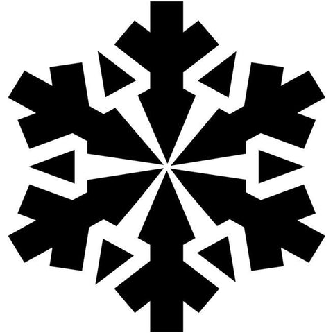 Sunburst Snowflake Craft Stencil