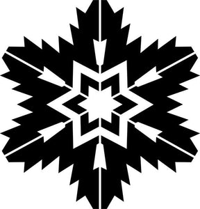 Jagged Snowflake Craft Stencil
