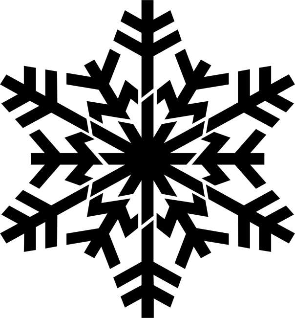 Branched Snowflake Craft Stencil