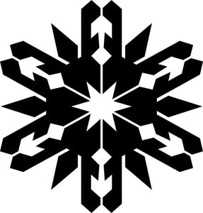 Spiked Snowflake Craft Stencil