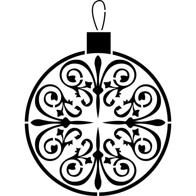 Christmas Ornament Stencil by Crafty Stencils