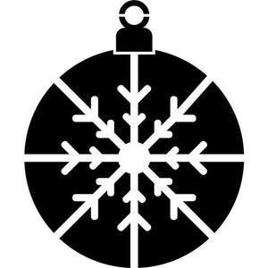 Snowflake Ornament Craft Stencil