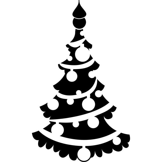 Kerstster Kleurplaat Christmas Tree Stencil 02 By Crafty Stencils