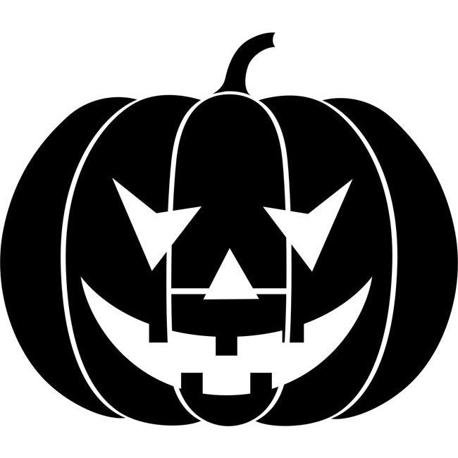 Grinning Pumpkin Stencil by Crafty Stencils