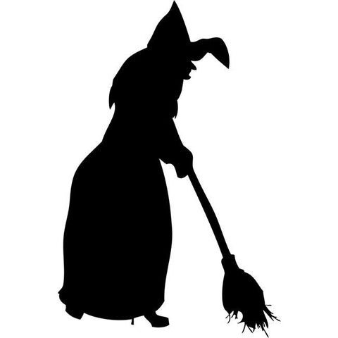 Broomstick Witch Stencil
